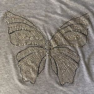 WHBM Butterfly embellished tee, size S